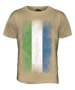 Sierra Leone Sbiadito Bandiera Uomo T-Shirt Maglietta Maglia Calcio Jersey