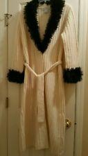Wool Long Jacket Pandemonium Medium Ivory Black Fancy Cardigan Sweater Winter