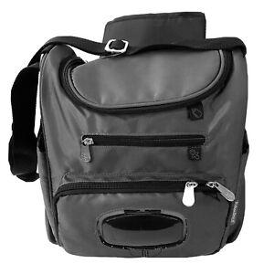 Fisher Price Dark Gray Zip Adjustable Strap Thermal Baby Diaper Bag