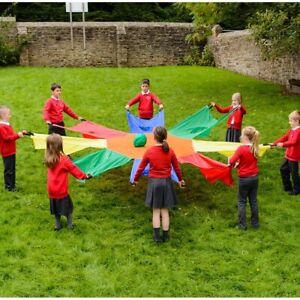 Eduk8 Sunflower 3.5 metre Parachute – Fun Co-operation Indoor/Outdoor Activity