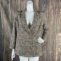 Storia Blazer Small Women Leopard Long Sleeve Boyfriend Carol Baskin Boho