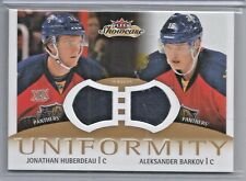 2013-14 Fleer Showcase Hockey Huberdeau-Barkov Uniformity Dual Jersey Card