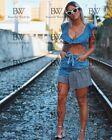 Zara Checked Denim Skirt Size SMALL BNWT