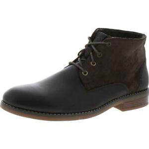 Rockport Mens Colden Leather Flat Lace Up Chukka Boots Shoes BHFO 4467
