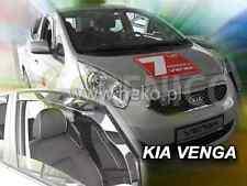 KIA VENGA 5-portes 2010-2017 Deflecteurs de vent 2-pièces HEKO Bulles