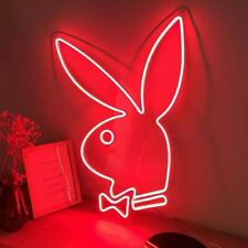 New Playboy Red Neon Led Sign 19.5x13.5