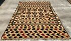 Authentic Hand Knotted Adraskan Balouch Kilim Kilm Wool Area Rug 6 x 4 Ft