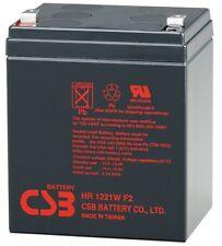 New 12V 5Ah CSB Lead Acid Battery HR1221W F2  SLA