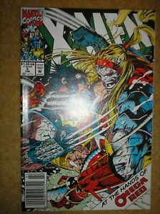 X-MEN # 5 OMEGA RED JOHN BYRNE JIM LEE NEWSSTAND ED VARIANT 1992 MARVEL COMIC BK
