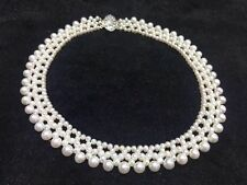 classic new design handmade south sea white pearl necklace  925s
