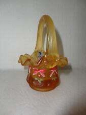 Fenton  4.5'' Gold Satin '' Mini Basket  HP Bows Gorgeous