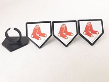 MLB Boston Red Sox Cupcake Rings 24pcs Party Favors Cake Toppers