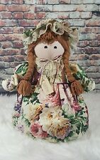 "Door Stop Handcrafted Display Décor 18"" Inch Decorative Doll Lace Ribbons & Bows"