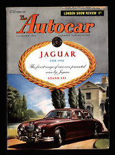 1957 AUTOCAR MAGAZINE  JAGUAR SALOON  LONDON SHOW REVIEW  VINTAGE AUTO MAGAZINE