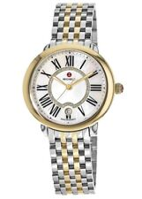 Michele Serein Mid Diamond Dial Two-Tone Stainless Steel Watch MWW21B000015