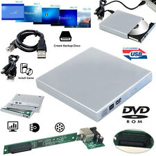 USB 2.0 Exrernal PC Laptop CD DVD Rom Enclosure to IDE RW Drive Caddy Case Cover