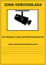 Pegatina Cartel Cámaras de Zona Videovigilada LOPD 15/1999 ESPAÑOL / CATALÁN