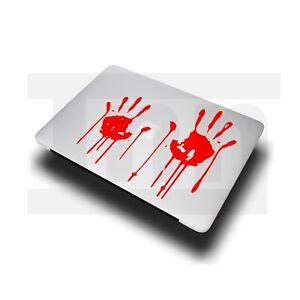 "Blood Hands Sticker Decal Vinyl For MacBook Pro Air 11"" 12"" 13"" 15"" Laptop Skin"