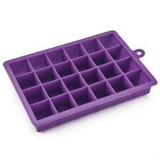 24-Hole Silicone Square Ice Cube Tray Mold Maker Mould Fridge Freezer DIY Tool