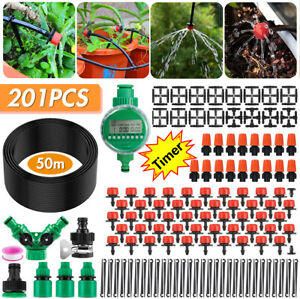Garden Irrigation System with Timer 30M/50M Plant Watering Drip Irrigation Kits