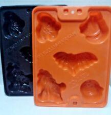 Jello Jiggler Molds 2ct Halloween Molds Orange Black Bat Pumpkin Ghost Cat Witch