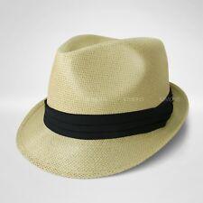 93470f7e506c5 Straw Fedora Hat Trilby Cuban Cap Summer Beach Sun Panama Short Brim Floral