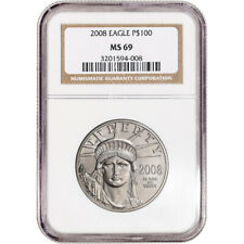2008 American Platinum Eagle 1 oz $100 - NGC MS69