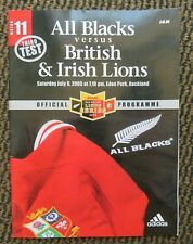 All Blacks V British And Irish Lions Third Test Auckland July 2005 Programme