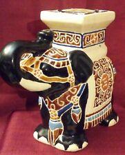 Absolutely Beautiful Vintage Chinese Ceramic black/beige Elephant