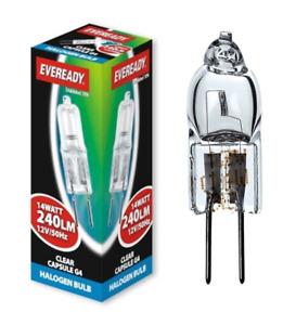 Packs of 14w = 20w Eveready G4 Halogen Energy Saving ECO Capsule Light Bulbs 12v