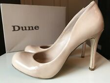 Dune Nude Leather Ladies Women Designer Court High Heel Sandal Shoe Size 6 39