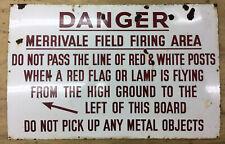 MOD Danger Warning Sign 58cm x 86cm Big Heavy Sign Vintage