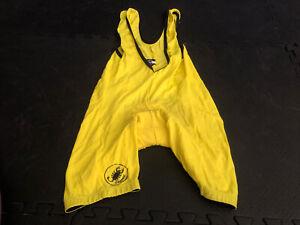 Castelli Men's Cycling Road Bike Bib Shorts Yellow Sz Small