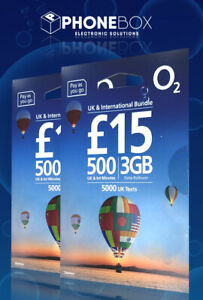 2 X O2 UK & INTERNATIONAL BUNDLE SIM - INCLUDES STANDARD, MICRO & NANO