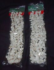 CHRISTMAS MOLDED PLASTIC POPCORN GARLAND-9 FEET-NEW-KURT ADLER-SET OF 2
