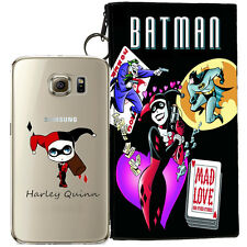 HARLEY QUINN JELLY CLEAR CASE FOR SAMSUNG GALAXY S7 EDGE + POUCH