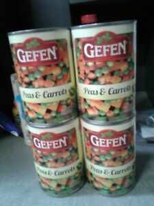 4 Cans GEFEN PEAS AND CARROTS  KOSHER FOR PASSOVER