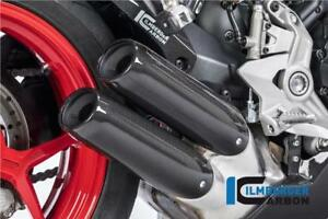 Ilmberger GLOSS Carbon Fibre Exhaust End Cap Cover Ducati SuperSport 939 2017