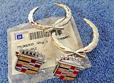 OEM Original NEW NOS 80-96 Cadillac CHROME Wreath & Crest Roof Ornament Emblems