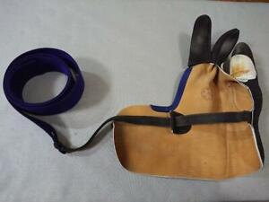 Hand Glove Kake for Kyudo, Kyudougi Martial Arts Kake L Size Good Condition F/S