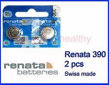 Renata SR1130S 390 Silver Oxide coin button watch Battery 2 pcs Swiss Made
