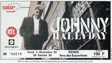 JOHNNY HALLYDAY TICKET DE CONCERT ORIGINAL VINTAGE AMIENS 4 12 1992