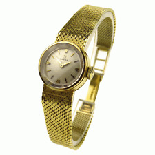 OMEGA 18K GOLD LADIES HAND-WIND MECHANICAL WRISTWATCH DATING CIRCA 1960