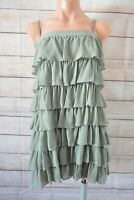 Cue Pencil Dress Size 10 Small 6 8 Green Sleeveless Rara Layer