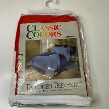 Classic Colors Jerart Inc Tailored Bed Skirt Size Full Color Red cotton poly