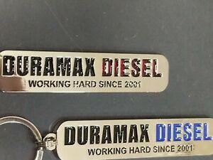 Duramax Diesel Emblem Keychains $14.99ea.(red or blue) (K3)