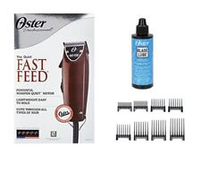 Oster Fast Feed Clipper With 8 Peice Comb Set  And Clipper Oil