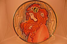 La Belle Femme Series Lily V. Tiziano Italy Hand Painted Etched S/N Red Gold
