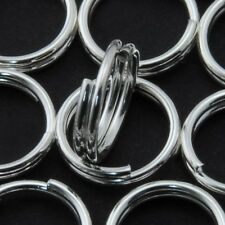 50 QTY - 8mm SILVER SPLIT RING Jewelry Necklace Bottle Caps Bottlecaps Rings