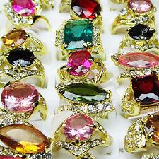15pcs Wholesale jewelry lots Cubic Zircon Rhinestones Fashion mix style Rings